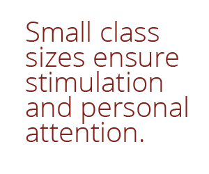 Small class sizes